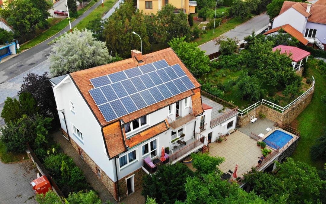 Hybridní FVE 6,0 kWp 9,6 kWh