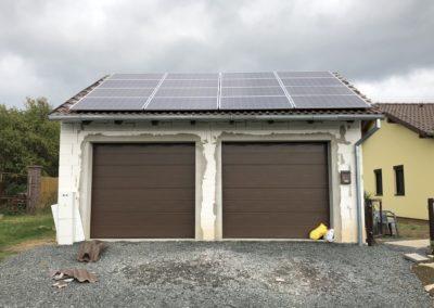 Hybridní FVE 4,24 kWp 6,5 kWh
