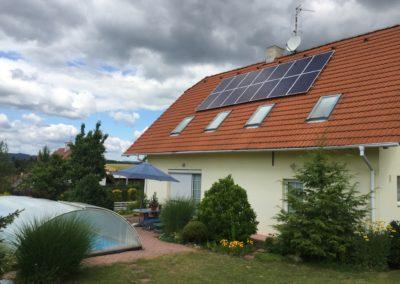 Hybridní FVE 3,71 kWp 6,5 kWh